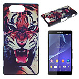 Tiger Pattern Painted PC Material Phone Case for Sony Z3 Mini