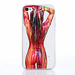 pintura corporal patrón TPU material de la caja del teléfono suave para el iphone 4 / 4s