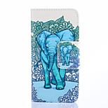 fashion design coco fun® blu modello carino elefante pu copertura di cuoio del raccoglitore per la galassia alpha g850f G850