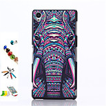 Elephant Pattern PC Material After The Shell and Touch Pen Dust Plug Bracket Assembly for Sony Xperia Z3