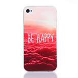 Red Cloud Pattern TPU Material Soft Phone Case for iPhone 4/4S