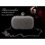 All Crystal/ Rhinestone with Pearl Evening Handbags/Clutches/Mini-Bags/Totes/Wallets & Accessories With Chain