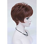 New Elegant Reddish Auburn Short Straight Women's Synthetic Wig