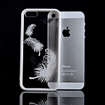 Feather Pattern TPU and Acrylic Combo Phone Case for iPhone 5/5S(Assorted Colors)