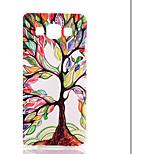 삼성 갤럭시 A5를위한 컬러 나무 패턴 투명 프로스트 PC 소재 휴대 전화 케이스