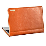 MOENCASE Solid Color Genuine Leather and Microfiber Full Body Case for MacBook 12''