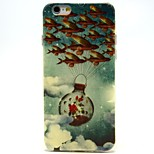 Flying Fish Pattern TPU Material Soft Phone Case for iPhone 6