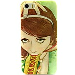 Girl Face Pattern TPU Soft Back Case for iPhone 5/5S