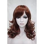 New Elegant Charming Medium Length Women's Curly Synthetic Wig