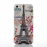 Transmission Tower Pattern Transparent Frosted PC Material Phone Case for iPhone 5/5S