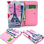 Eiffel Tower PU Leather Wallet style Full Body Case and Card Slot for Nokia N8