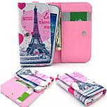 torre Eiffel de cuero estilo de la carpeta de la PU caso de cuerpo completo y ranura para tarjeta para Nokia N8