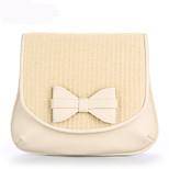 Handbag PU/Knit Shoulder Bags With Bowknot