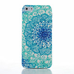 Blue and White Pattern Transparent Frosted PC Material Phone Case for iPhone 5/5S