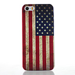 American Flag Pattern Transparent Frosted PC Material Phone Case for iPhone 5/5S