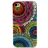 Boom Flower Pattern TPU Soft Back Case for iPhone 4/4S