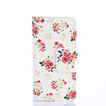 High Quality Fashion Design COCO FUN® Rose White Pattern PU Leather Wallet Case Cover for Sony Xperia M2 S50h