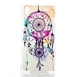 Campanula Color Pattern Transparent Frosted PC Material Phone Case for Sony Xperia Z3