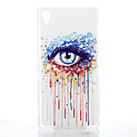 Eye Pattern Transparent Frosted PC Material Phone Case for Sony Xperia Z3