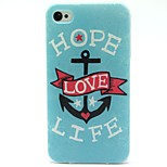 Ture Love Pattern TPU Soft Back Case for iPhone 4/4S