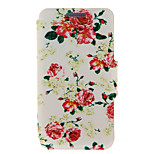 Kinston® Red Flowers Pattern Full Body PU Cover with Stand for HTC One M7/M8/M9 and HTC Desire 816/826/Eye