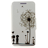 Kinston® Dandelion Pattern Full Body PU Cover with Stand for HTC One M7/M8/M9 and HTC Desire 816/826/Eye