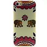 Elephant Totems Pattern TPU Soft Back Case for iPhone 5/5S