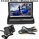 RenEPai® 4.3 Inch Folding Display Monitor + Wireless 170°HD Car Rear View Camera +  Wide Angle Waterproof Camera