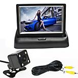 RenEPai® 4.3 Inch Folding Display Monitor + 170°HD Car Rear View Camera +  Wide Angle Waterproof Camera