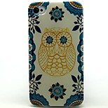 Lovly Owl Pattern TPU Soft Back Case for iPhone 4/4S