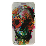 Kinston® Flower Decorated Skull Pattern Full Body PU Cover with Stand for HTC One M7/M8/M9 and HTC Desire 816/826/Eye