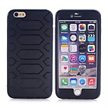 Silicone and ABS Back Tire Wave Case for Iphone 6 Plus (Assorted Color)