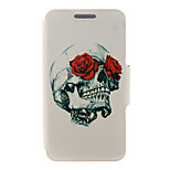 Kinston® Rose & Skull Design Pattern Full Body PU Cover with Stand for HTC One M7/M8/M9 and HTC Desire 816/826/Eye