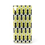 Fashion Design COCO FUN® Black & Yellow Pineapple Pattern Soft IMD TPU Case Cover for Sony Z4