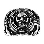 Ring Non Stone Halloween / Party / Daily / Casual Jewelry Steel Men Ring 1pc,8 / 9 / 10 / 11 Silver