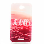 Red Clouds Pattern TPU Phone Case for Sony Xperia E4G