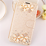 PU Leather Graphic  Diamond Look Full Body Cases Jewel Covered Cases Cases with Stand For Samsung Galaxy S6
