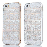 Metal Frame + Elephant Carpet Pattern Backplane Back Case Cover for iPhone 5/5S (Assorted Colors)