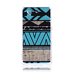 Blue Ethnic Pattern TPU Soft Back Cover Case for Sony Z3 Mini