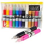 12 PCS Hole Nail Art Pen With Nail Polish