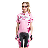 FORIDER® Sports Clothing Set Short Sleeved Women Riding Flowers