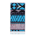 Blue Ethnic Pattern TPU Soft Back Cover Case for Sony Xperia M2
