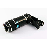 Universal 12X Telephoto Lens HD Green Film Optical Glass Detachable Lens for iPhone HTC Samsung Sony