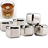 10 pcs/lot Stainless Steel Whiskey Stones Rock Ice Cubes Soapstone Drink Freezer