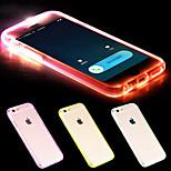 nova TPU Flash lembrete levou tampa da caixa traseira transparente para iphone 6 (cores sortidas)