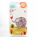 Elephant Pattern TPU Material Soft Phone Case for Sony Xperia E4