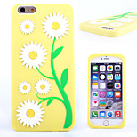 Relief Process Daisy Flower Pattern Super Soft Silicone Material Phone Case for iPhone 6 (Assorted Colors)