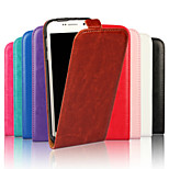 Vertical Flip Magnetic Button Horse Grain PU Leather Case for Samsung Galaxy S6 (Assorted Colors)