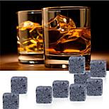 9 pcs/lot  Whiskey Stones Rock Ice Cubes Soapstone Drink Freezer
