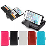 Specially Designed PU Leather Wallet Case Full Body Case for iPhone 5/5S(Assorted Colors)